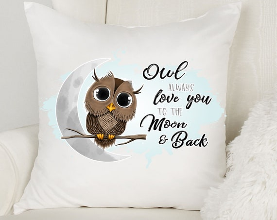 I Love You to the Moon and Back, Throw Pillow, Birthday Gift Ideas for Sister