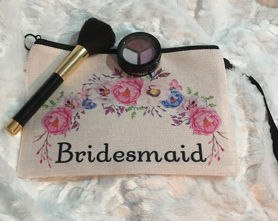 Personalized Make Up Bag, Wedding, Bridesmaid Gift