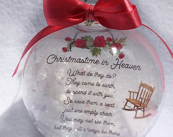 Christmas memorial ornament  Unique Gifts Personalized gifts Memorial Sympathy Gift