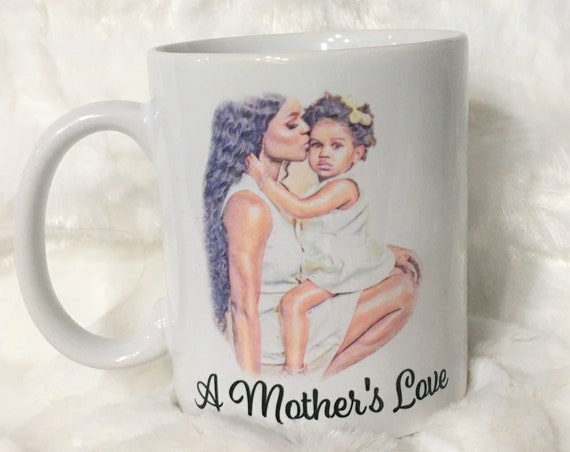 Black Girl Mom Gift, Coffee Mug for Mom, Christmas, Gift for Mom