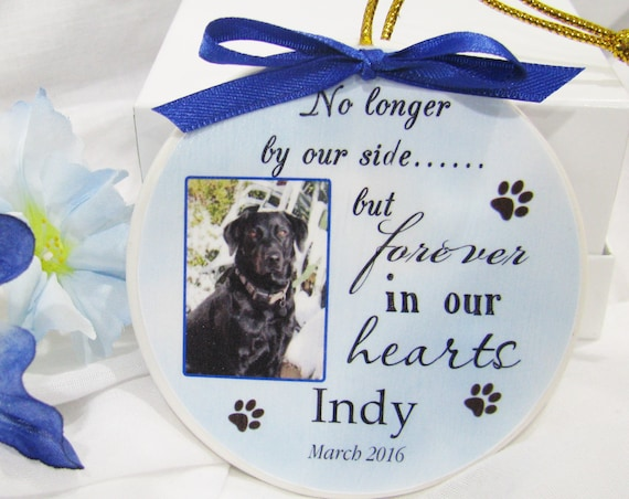 Personalized Pet Memorial, Christmas Ornaments, Sympathy Gift, Gift for Boyfriend