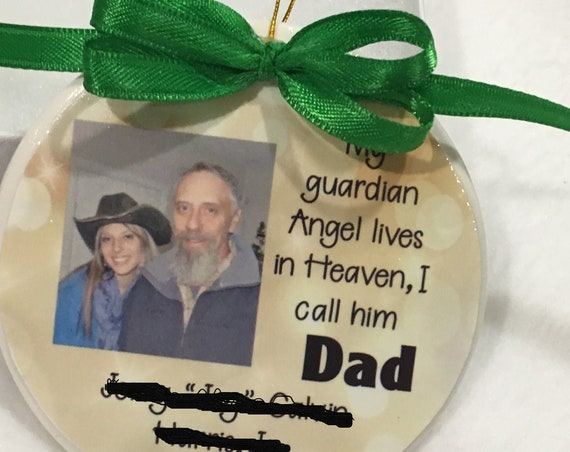 Memorial Ornament, In Loving Memory, Personalized, Christmas, Gift for Loss of Father