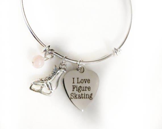 Figure skating charm bracelet figure skater ice skating bracelet figure skating gift ice skating ice skating jewelry skating bracelet