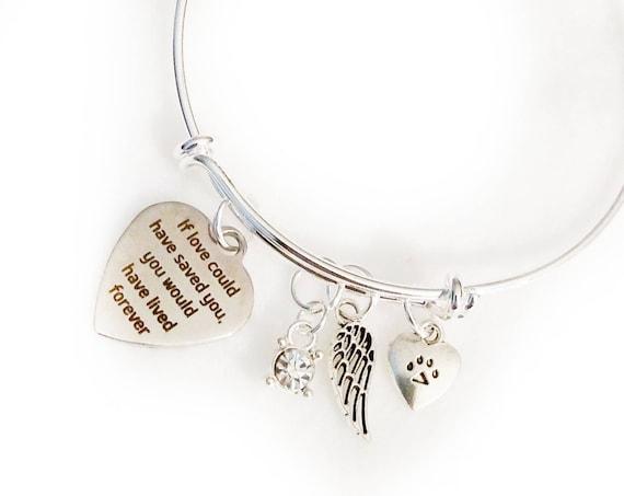 Pet Memorial Bangle,Pet Remembrance Bracelet,Pet Bereavement,Sympathy Gift