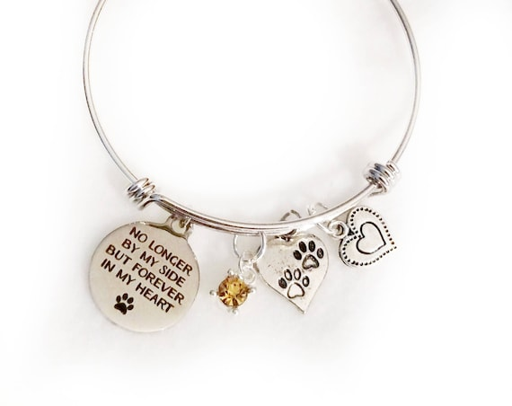 Pet memorial Pet memorial jewelry Memorial bracelet Pet Remembrance loss of pet Dog memorial Pet loss jewelry Pet bracelet Memorial jewelry
