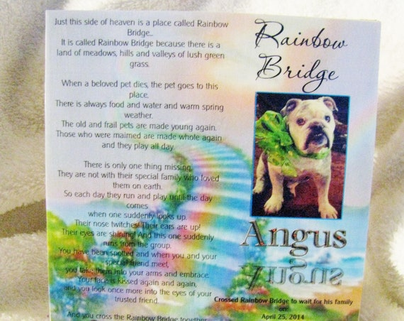 Pet Memorial Plaque, Pet Memorial, Daughter Gift