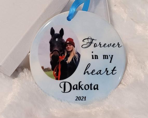 Horse Memorial, Pet Memorial Ornament, Christmas, Gift for Horse Lover