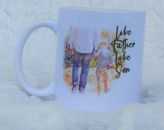 Dad Gift from Son, Father Son Ceramic Mug, Christmas Gift, Gift for Dad