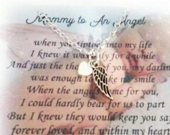 Miscarriage Necklace, Bereavement, Sympathy Gift, Wife Gift