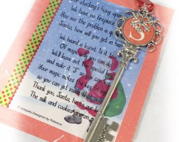 Santa Key, Magic Santa Key, Christmas Ornament, Christmas, Grandkids Gift