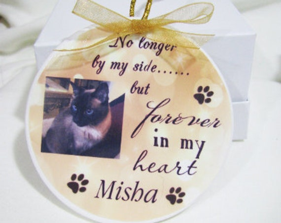 Pet Memorial Ornament, Christmas, Gift for Wife