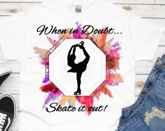 Figure Skating Tshirt, Christmas, Holiday Gift for Granddaughter