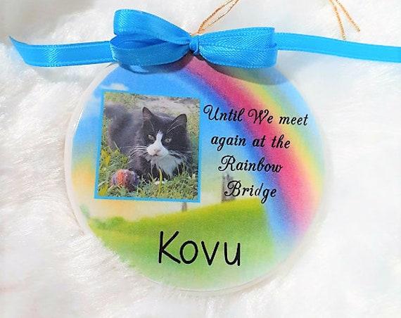 Pet Memorial Ornament, Pet Sympathy, Gift for Friend