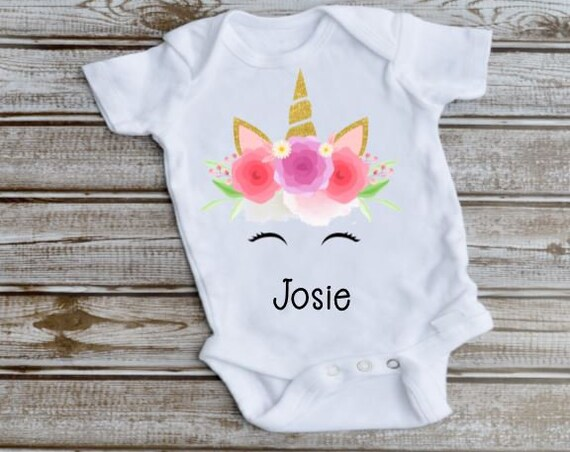 Unicorn Baby Outfit, New Baby, Gift for Baby Girl
