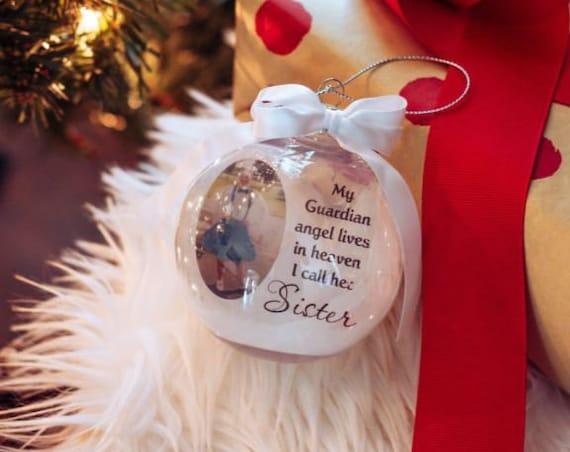 In Loving Memory Memorial Ornament, Christmas, Gift for Loss of Sister