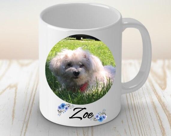 Custom Pet Portrait Coffee Mug, Birthday, Gift for Dog Mom