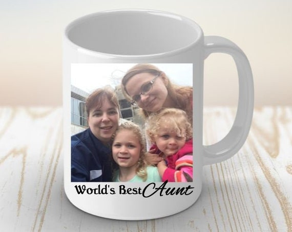 Custom Photo Mug, Birthday, Christmas, Aunt Gift