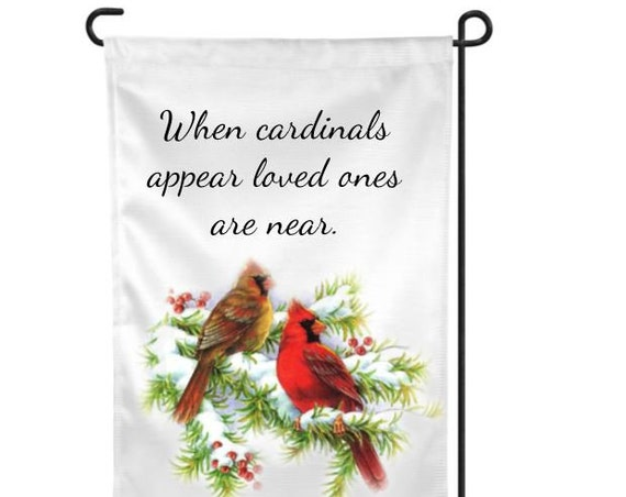 Cardinal Memorial Garden Flag, Bereavement, Sympathy Gift for loss of Father