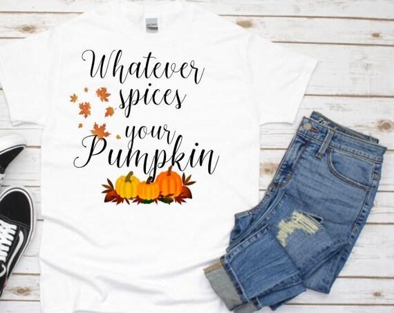 Pumpkin Spice Shirt, Autumn, Fall, Halloween,  Gift for Wife