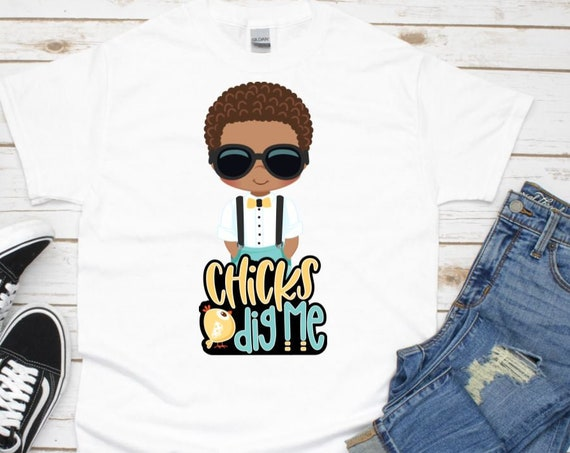 Easter Shirt, Chicks Dig Me, Gift for Boys, Easter Basket Stuffer