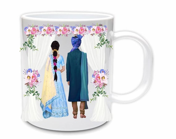 Indian Wedding, Coffee Mug, South Asian, Bride Gift