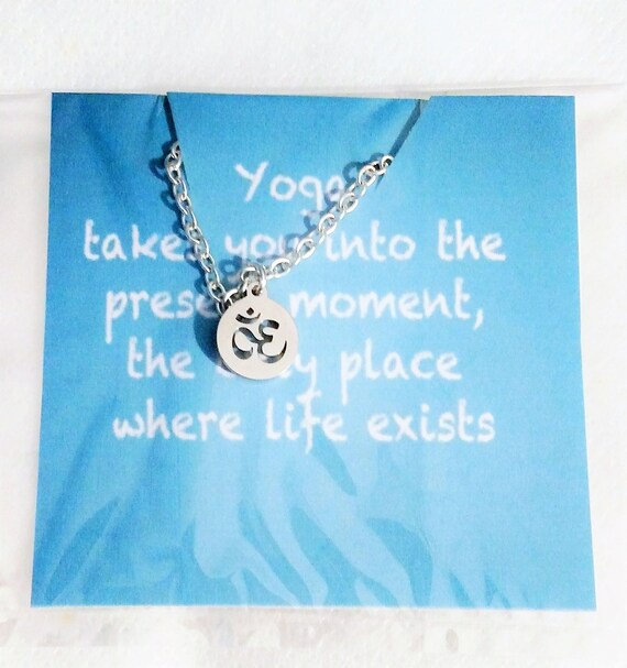 Yoga gift gift for her necklace Christmas gift Yoga gifts Yoga Meditation