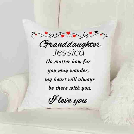 Personalized Granddaughter Pillow Cover, Throw Pillow, Christmas, Gift for Granddaughter