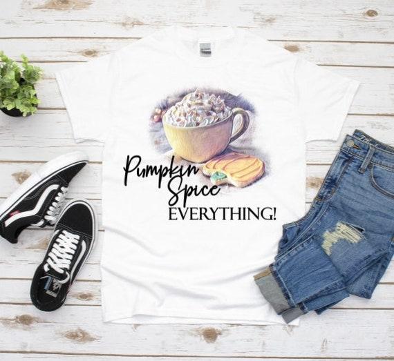 Pumpkin Spice Graphic Tee, Halloween, Friend Gift
