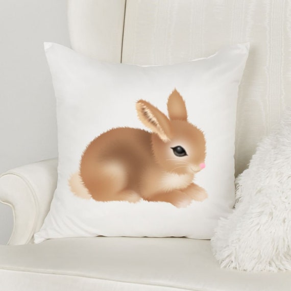 Easter Bunny Throw Pillow, Easter Decoration, Mom Gift