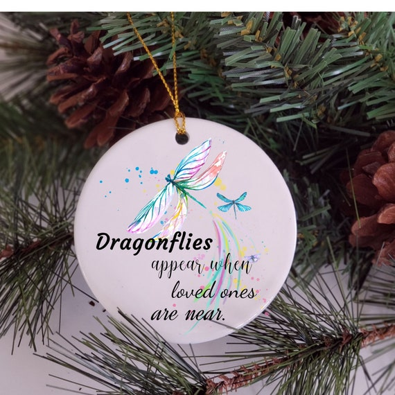 Dragonfly Ornament, Memorial Ornament, Christmas Gift for Loss of Dad