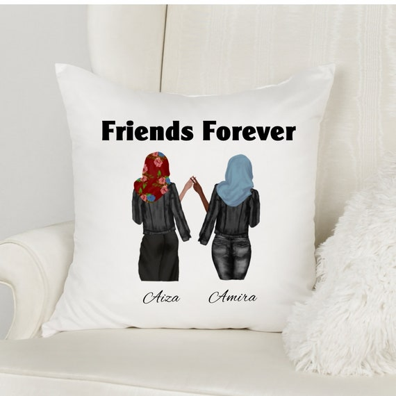 Eid Gifts, Friends Throw Pillow, Ramadan Mubarak, Best Friend Gift