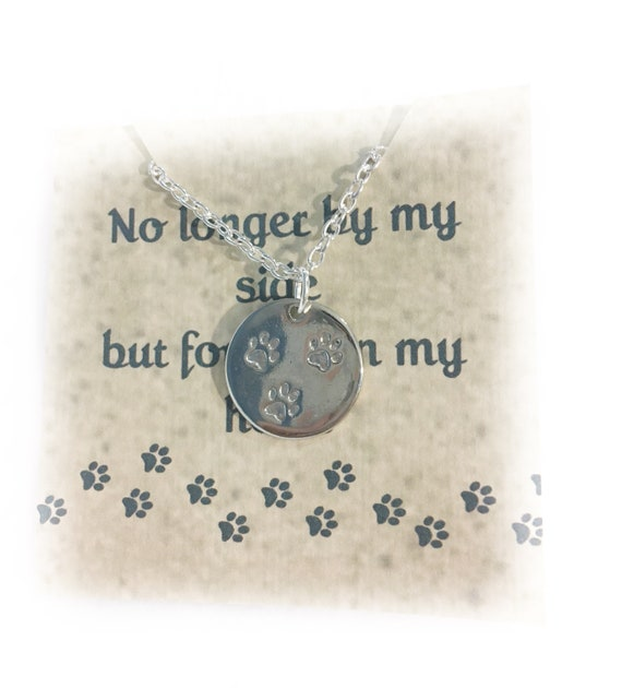 Pet Memorial Necklace Memorial Necklace Pet Memorial Jewelry Dog Memorial