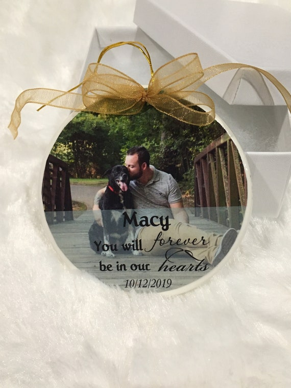 Pet Memorial Ornament, Personalized, Christmas, Family Gift