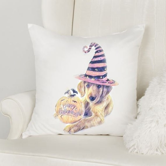 Halloween Pillow Cover, Throw Pillow, Autumn, Gift for Dog Mom