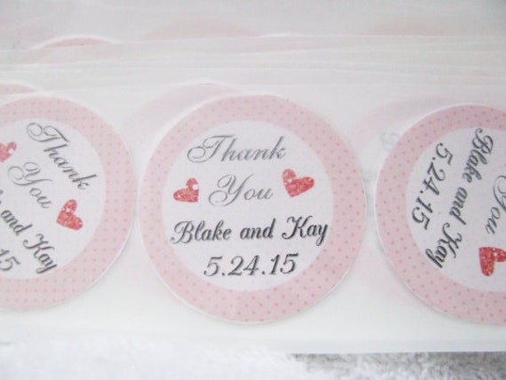 Personalized Favor Stickers, Wedding Favor Stickers, Guest Gift