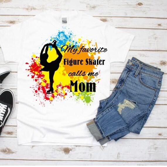 Figure Skating Mom T-Shirt, Christmas, Gift for Mom