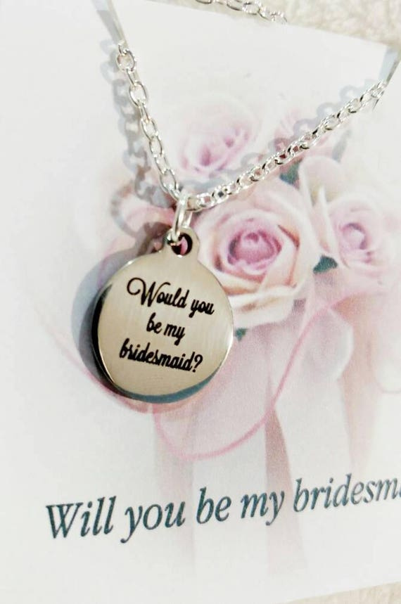 Will you be my bridesmaid - You be my bridemaid- maid of honor-wedding party-necklaces- be my bridesmaid-bridesmaid present-will you be my