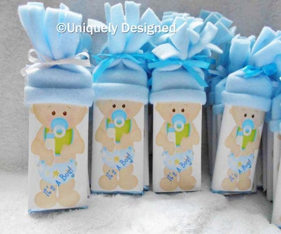 Unique Baby shower favors It's A Boy and It's A Girl chocolate bars