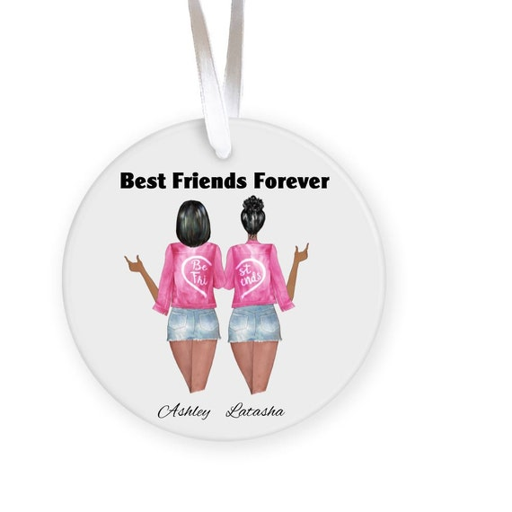 Personalized Best Friends Christmas Ornament, Christmas, Best Friend Gift