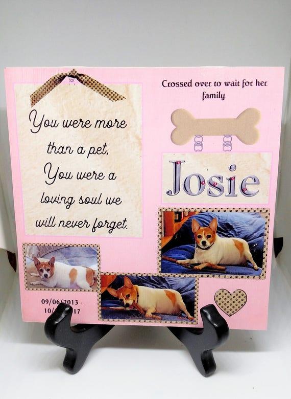 Personalized Pet Memorial Pet Loss Gift