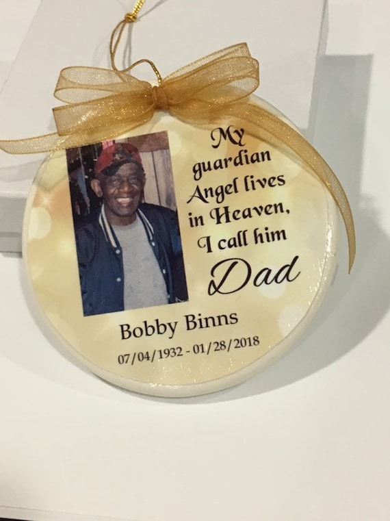 Christmas ornament, Memorial Ornament, Christmas Gift, Loss of Dad, African American, Gift for her, Gift for Daughter