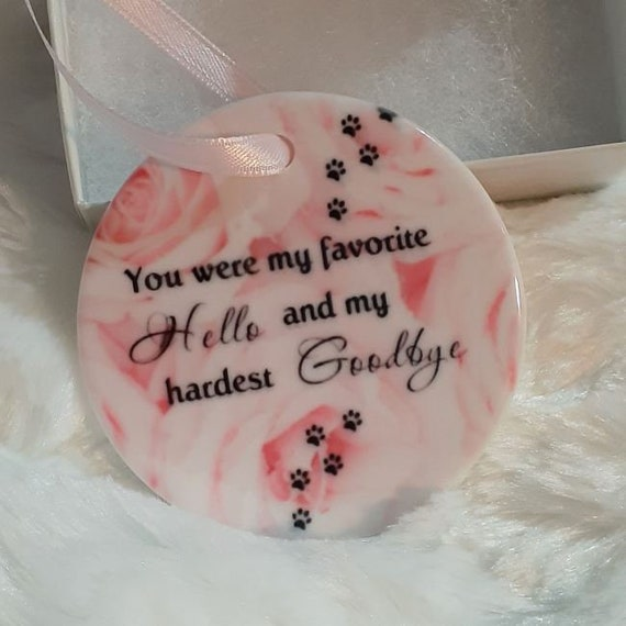 Pet Memorial Ornament, Dog Loss, Christmas, Gift for Wife