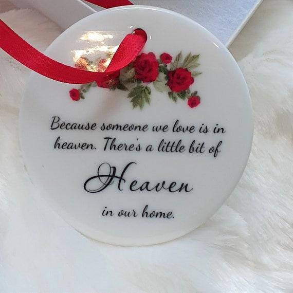 Memorial Ornament, In Memory of, Loss of Dad, Christmas Gift for Daughter