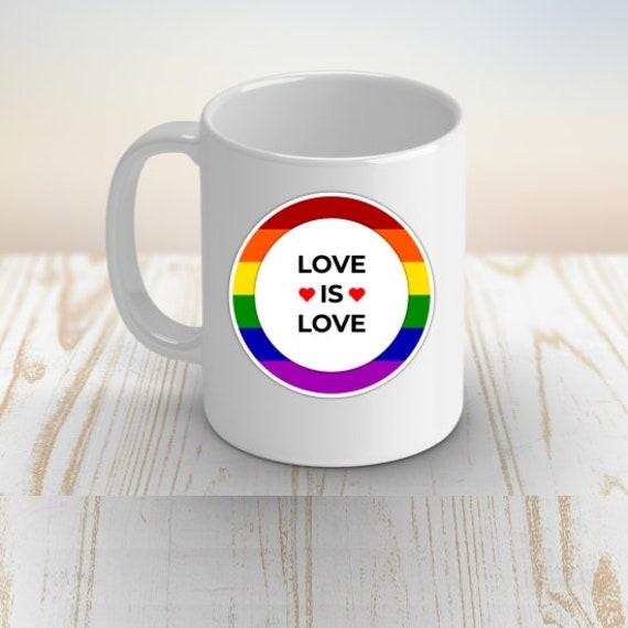Love Is Love LGBT Coffee Mug, Birthday, Gift for Boyfriend