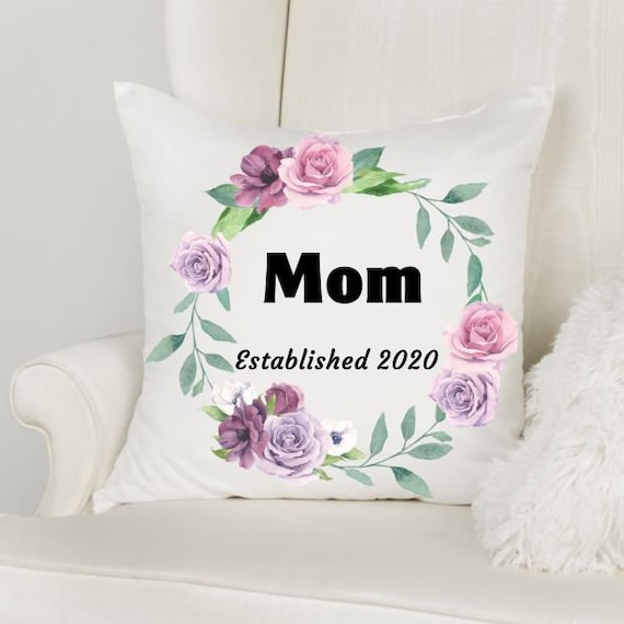 Mom Throw Pillow, Personalized Pillow, Christmas, Gift for Mom
