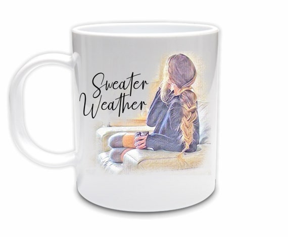 Autumn Quotes Coffee Mug, Sweater Weather, Autumn, Daughter Gift