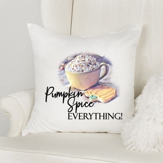 Pumpkin Spice Pillow Cover, Throw Pillow, Autumn, Gift for Autumn Lover, Gift for Wife