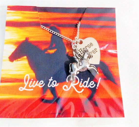 Horse Jewelry Horse Necklace Charm Necklace Horse Lover Gift