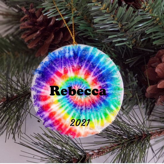 Personalized Christmas Ornament, Tie Dye, Christmas, Daughter Gift