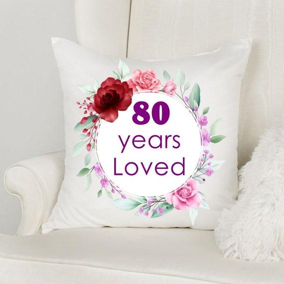 80th Birthday Gift for Women, Throw Pillow, Grandma Gift